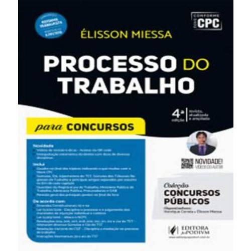 Processo do Trabalho - para Concursos - 4 Ed