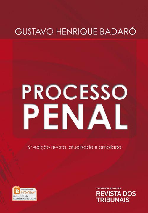 Processo Penal - 6ª Edição
