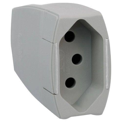 Prolongador Residencial 10A 2P+T Cinza - 615824 - PIAL