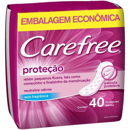 Prot Diario Carefree 40un-cx Protecao Sp