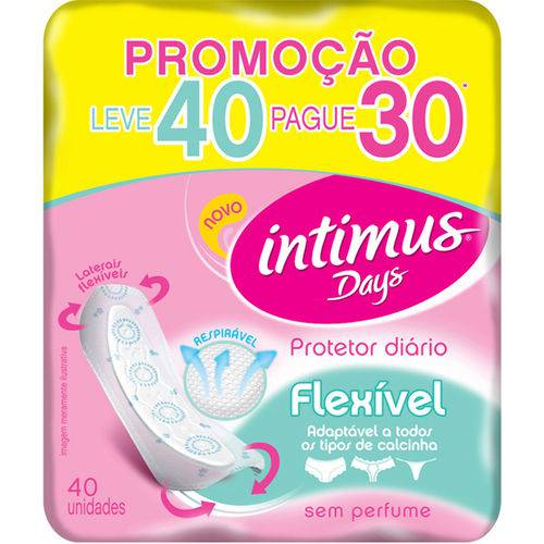 Prot Diario Intim Days Lv40/pg30 S/ Perfume