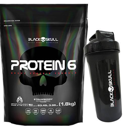 Protein 6w - 1800g - Black Skull - Chocolate