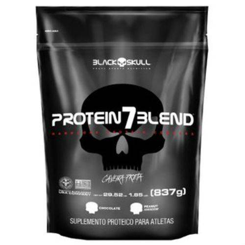 Protein 7 Blend (837G) Caveira Preta Series - Morango - Black Skull
