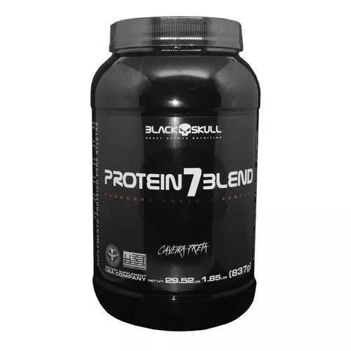 Protein 7 Blend Caveira Preta 837g Morango Black Skull