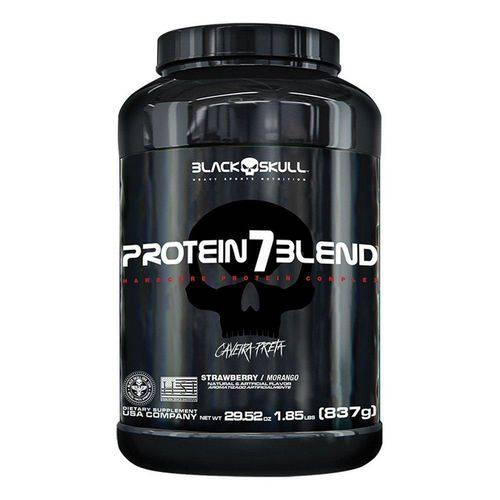 Protein 7 Blend Whey Caveira Preta 837g -Chocolate