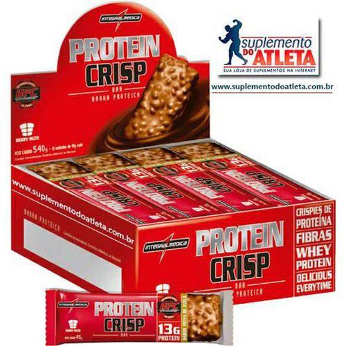 Protein Crisp 12 Unids 45g Amendoim C/ Chocolate - Integralmédica