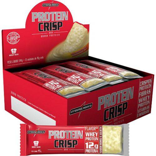 Protein Crisp Bar (caixa C/ 12 Unidades de 45g) - Integralmédica