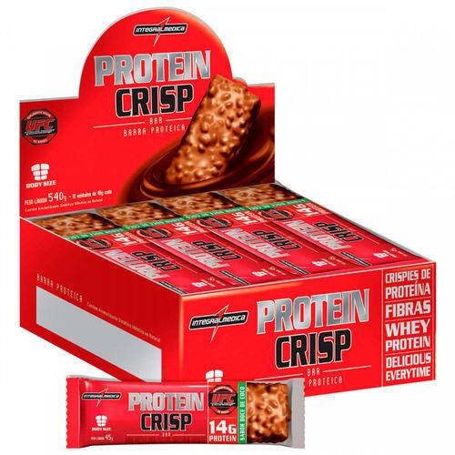 Protein Crisp Caixa com 12 Unidades Sabor Doce de Coco