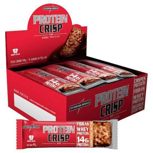 Protein Crisp Caixa com 12 Unidades Sabor Peanut Butter (Amendoim)