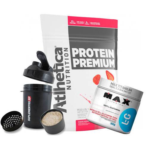 Protein Premium (1,8kg) + Glutamina Micronized (300g) - Atlhetica