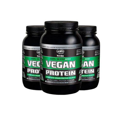 Protein Vegan - 3 Un de 900 Gramas - Unilife Chocolate