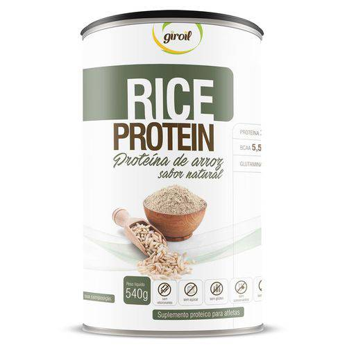 Proteina de Arroz RICE PROTEIN Natural 540g - Giroil - Natural