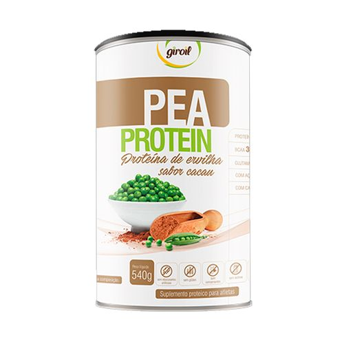 Proteína de Ervilha Pea Protein Sabor Cacau - Giroil - 540g