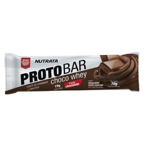 Proteina em Barra PROTOBAR - Nutrata Suplementos - 560g Caixa C/ 8 Unidades de 70g Cada