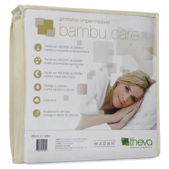 Protetor Colchão Impermeável Bambu Care Solteiro 88X188 Theva