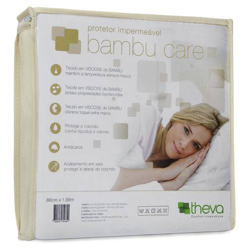 Protetor Colchão Impermeável Bambu Care Casal King 193X203 Theva