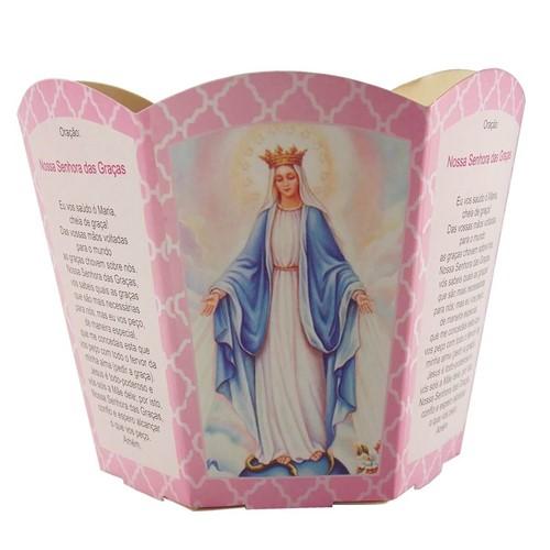 Protetor de Vela - Nossa Senhora das Graças   SJO Artigos Religiosos