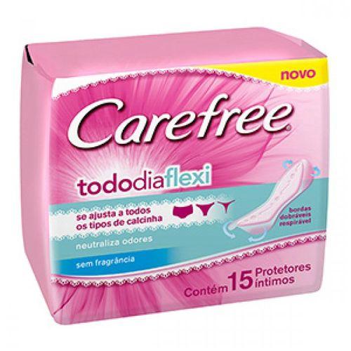 Protetor Diário Carefree Todo Dia Flexi Sem Perfume 15 Unidades