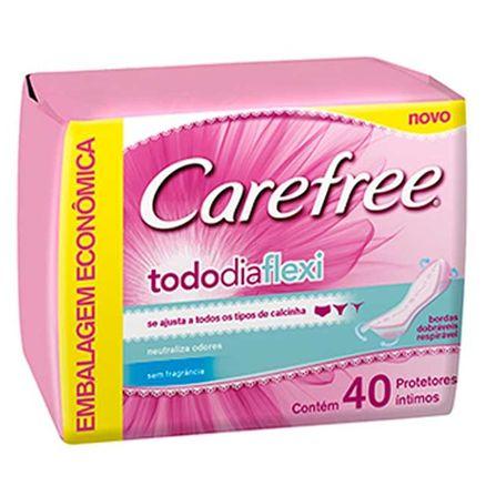 Protetor Diário Carefree Todo Dia Flexi Sem Perfume 40un