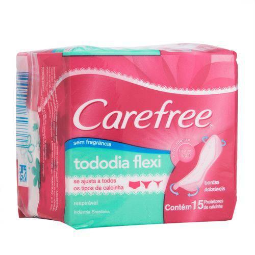 Protetor Diário Carefree Todo Dia Flexi Sem Perfume
