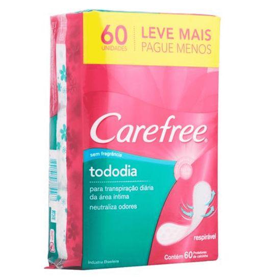 Protetor Diário Carefree Todo Dia Sem Perfume Leve 60 Unidades Pague 50 Unidades