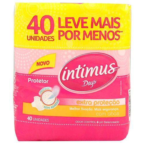 Protetor Diário Intimus Days com Abas 40 Unidades