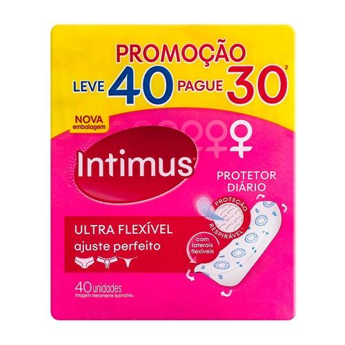 Protetor Diário Intimus Ultra Flexível Leve 40 Pague 30