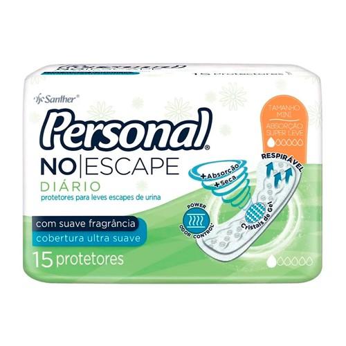 Protetor Diário Personal no Escape com Perfume Sem Abas 15 Unidades
