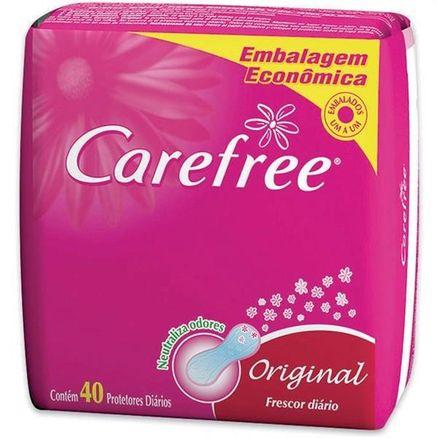 Protetor Diário Sem Abas Carefree C/ 40 Proteção com Perfume