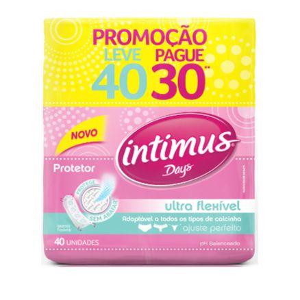 Protetor Diário Sem Abas Intimus Days 40 Unidades