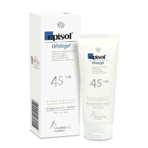 Protetor Episol Whitgel Fps45 Mantecorp Skincare 60g