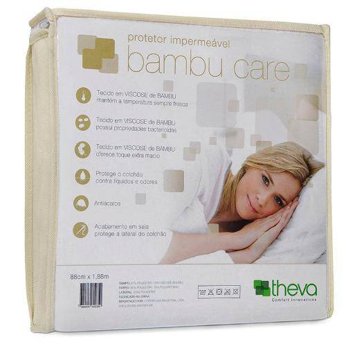 Protetor Impermeável para Colchão Bambu Care (40 X 88 X 1,88cm) Theva-Copespuma
