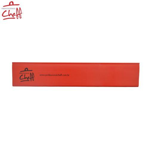 """Protetor PVC Vermelha para Faca Chefe 12"""" - Professional Cheff"""