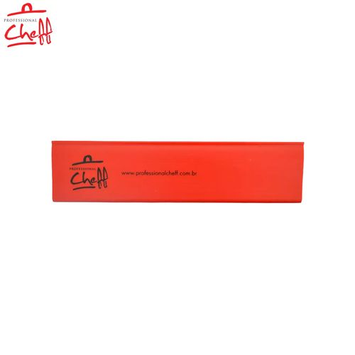 """Protetor PVC Vermelha para Faca Chefe 8"""" - Professional Cheff"""