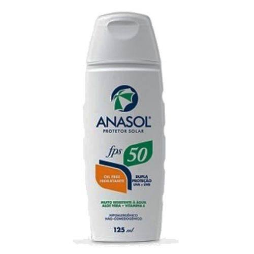 Protetor Solar Anasol Fps 50 Oil Free Hipoalergênico 125 Ml