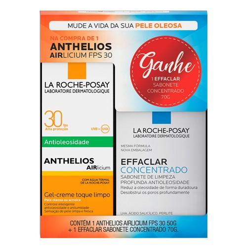 Protetor Solar Anthelios AIRlicium FPS 30 Gel Creme com 50g + Grátis Effaclar Sabonete Concentrado 70g