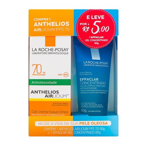Protetor Solar Anthelios AIRlicium FPS 70 Gel Creme 50g e Leve por R$ 5,00 1 Effaclar Concentrado La Roche-Posay 60g