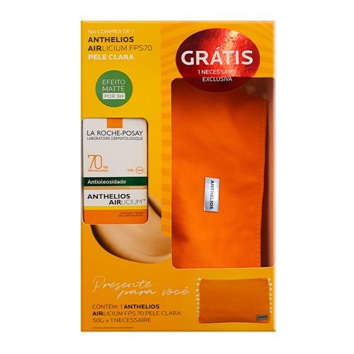 Protetor Solar Anthelios AIRlicium Pele Clara FPS 70 Gel Creme com Cor 50g + Grátis 1 Necessaire