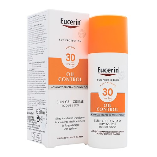 Protetor Solar Eucerin Oil Control Toque Seco FPS 30 Gel Creme 52g
