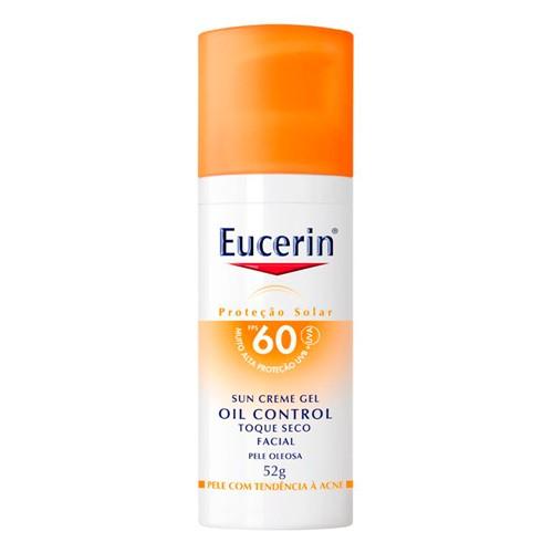 Protetor Solar Eucerin Oil Control Toque Seco FPS 60 Gel Creme 52g
