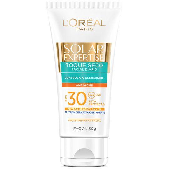 Protetor Solar Expertise Facial Fps30 Toque Seco Antiacne 50g
