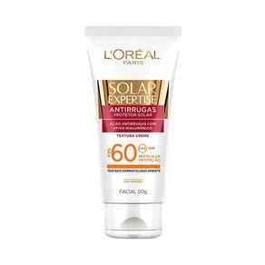 Protetor Solar Facial Antirrugas Expertise FPS 60 50g