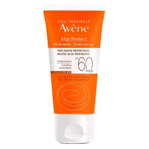 Protetor Solar Facial Avene Matte Perfect com Cor FPS60 50ml