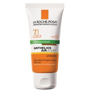Protetor Solar Facial com Cor La Roche-Posay - Anthelios Airlicium Fps70 Morena Mais