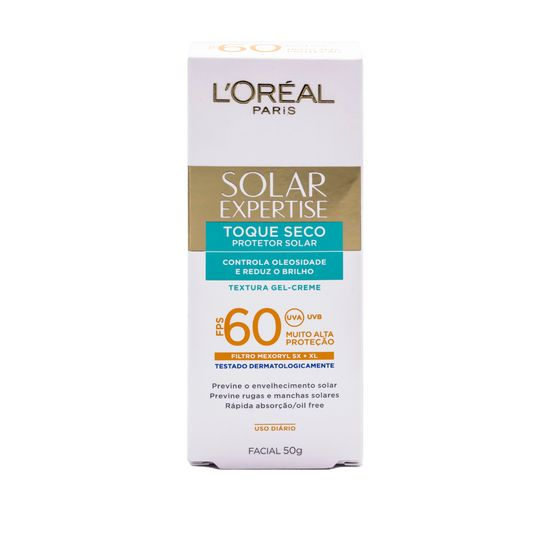 Protetor Solar Facial com Toque Seco Fps 60 de Loréal Paris 50g