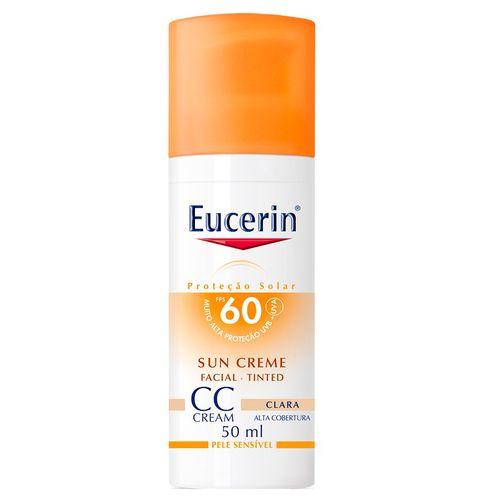 Protetor Solar Facial Eucerin Creme Tinted Clara FPS 60 50ml
