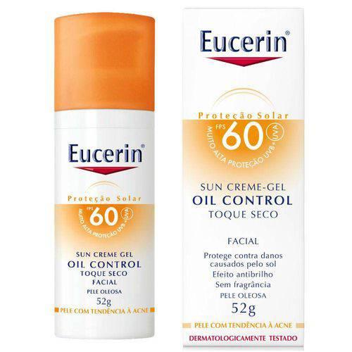 Protetor Solar Facial Eucerin Oil Control Toque Seco Fps 60 52g