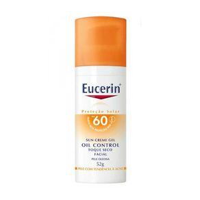 Protetor Solar Facial Eucerin - Sun Gel-Creme Oil Control FPS 60 52g