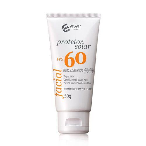 Protetor Solar Facial Ever Care Fps60 Sem Cor 50g