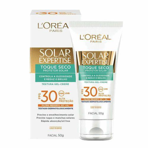 Protetor Solar Facial L'Oréal Expertise Toque Seco FPS 30 50g Protetor Solar L'Oréal Facial Expertise Toque Seco FPS 30 50g